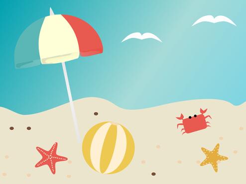 Ilustracija plaže
