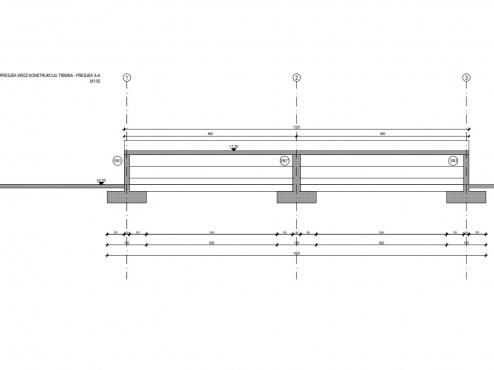 Ilustracija projekta tribina igrališta