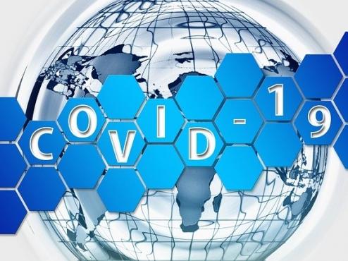 Ilustracija širenja bolesti COVID-19